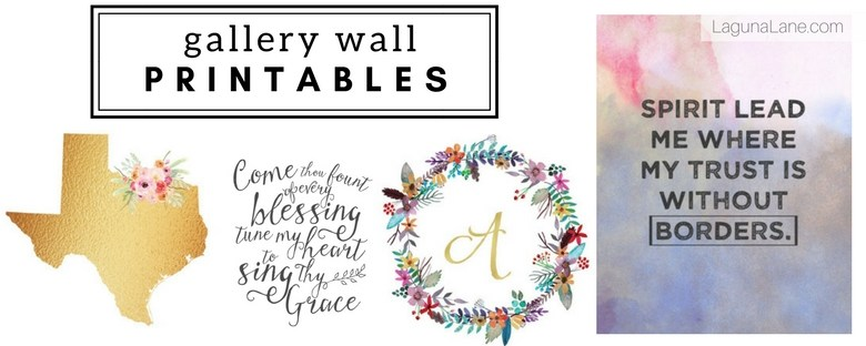 Gallery Wall Printables - Free Artwork Used in my Gallery Wall | Laguna Lane