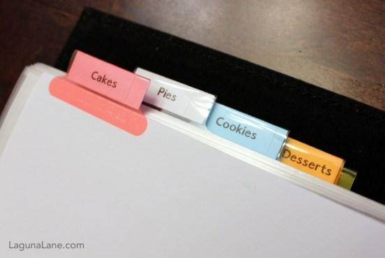 DIY Recipe Binder - Dessert Recipe Categories | Laguna Lane