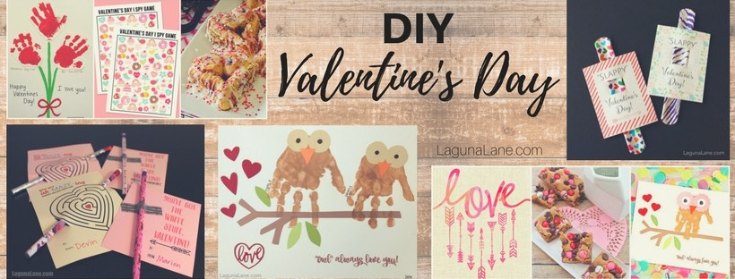 DIY Valentine's Day - Easy and Cheap Valentine's Day crafts, printables, cards, and treats to make the holiday special | Laguna Lane
