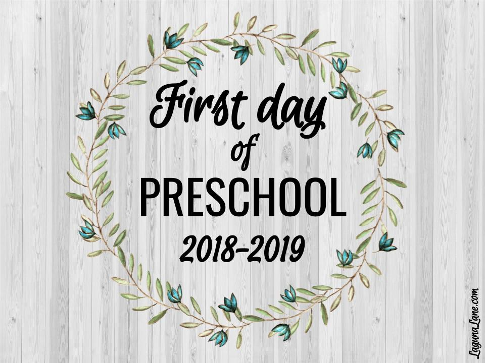 photo about First Day of Preschool Sign Free Printable known as Farmhouse To start with Working day of Higher education Indications 2018-2019 No cost