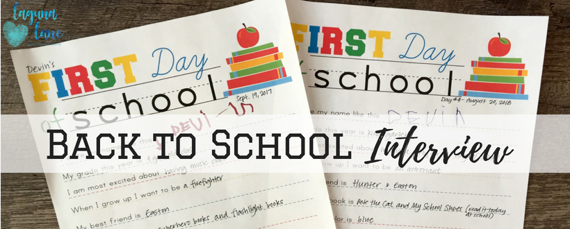 photograph about First Day of School Interview Printable titled Back again towards University Job interview Printable Will Be a Keepsake