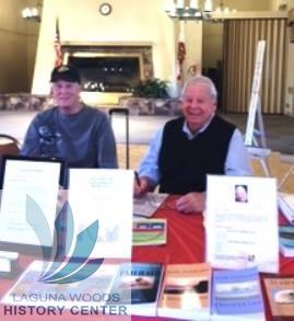 Author Jon Perkins, joined by friend Don at The Village Publishing Club's Storytelling Event