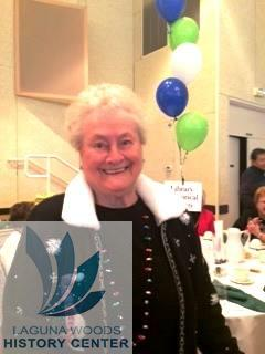 Volunteer Receptionist Louise Paxton at the Volunteer Luncheon. — at Clubhouse 5 in Laguna Woods.
