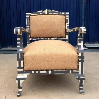 butaca mondrian original clasica antigua estilo vintage arpillera muebles reciclados descalzadora madera cuadraditos 2