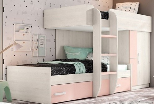 Por que usar camas tren en dormitorios infantiles y