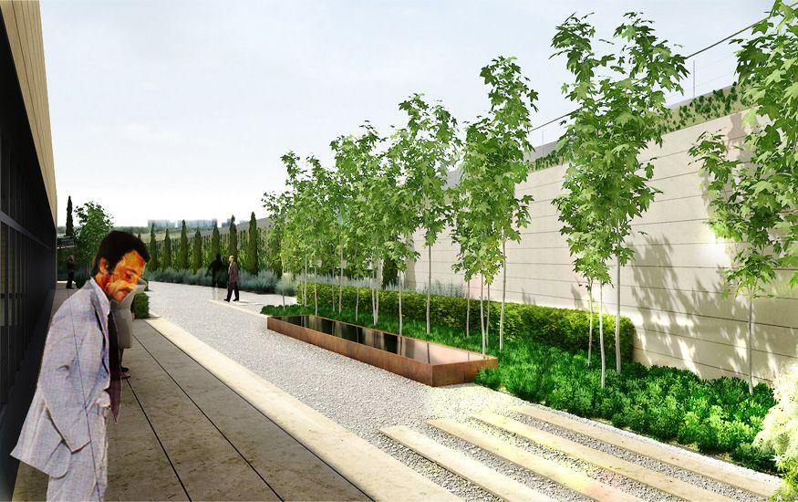 proyecto de paisajismo para un edificio de investigacion