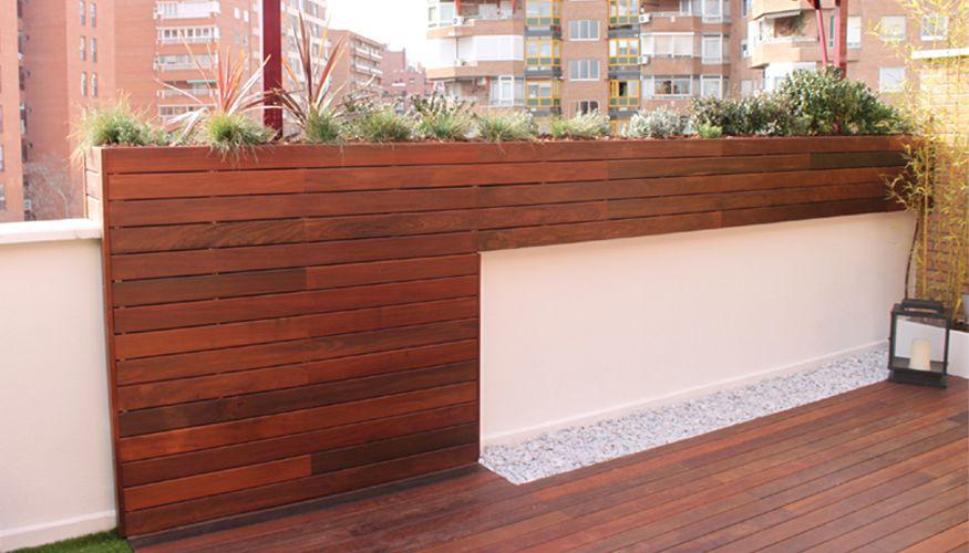Diseño de jardín en terraza de ático