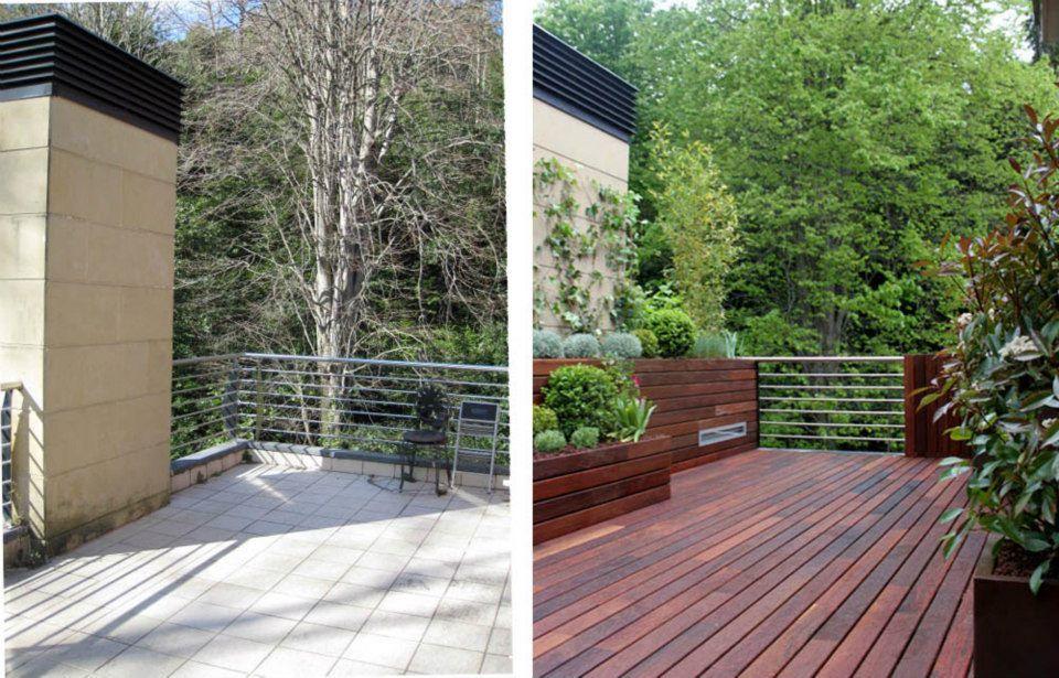 Dise o de jard n en un tico para 2 terrazas la - Plantas para terraza con mucho sol ...