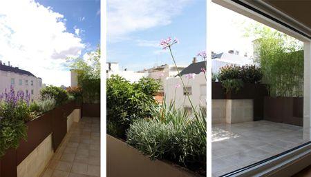 jardin de diseo en terraza de atico