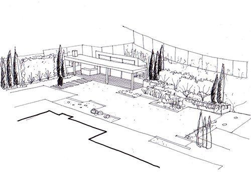 Dibujo de diseño de jardín