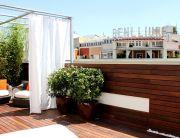 Jardin en terraza de atico en Madrid