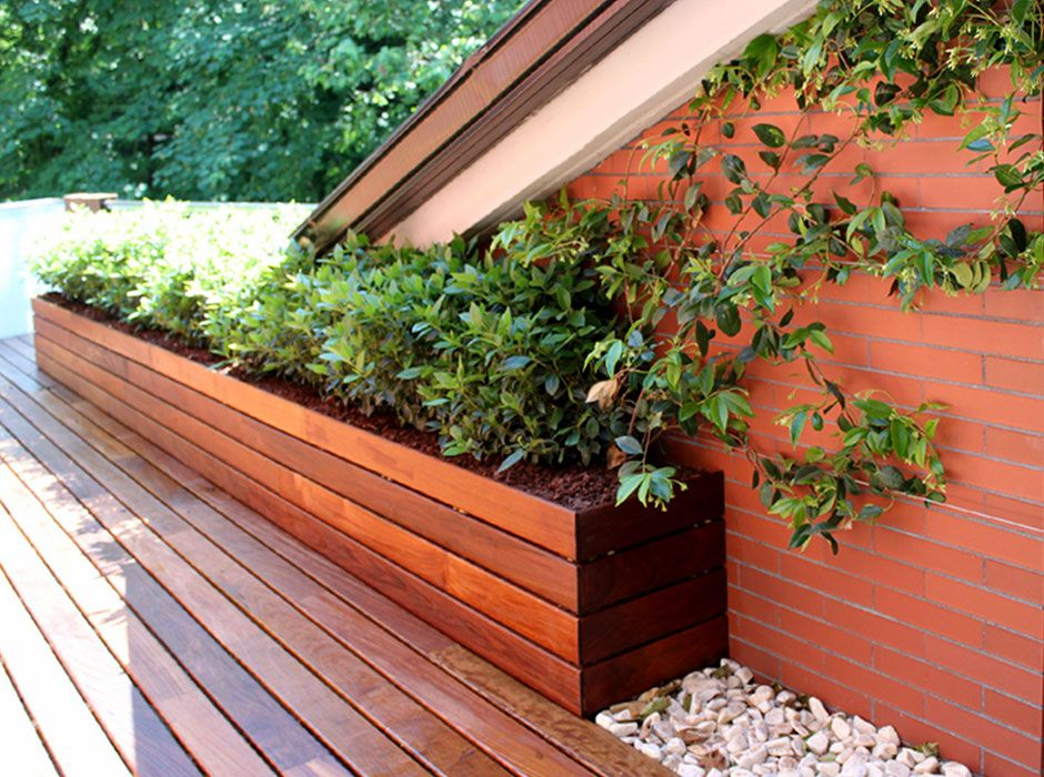 jardin en pequeña terraza