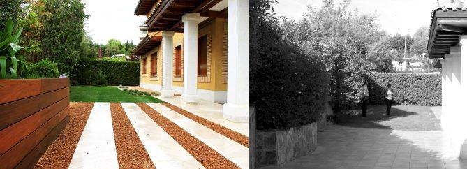 jardín privado madrid antes y después