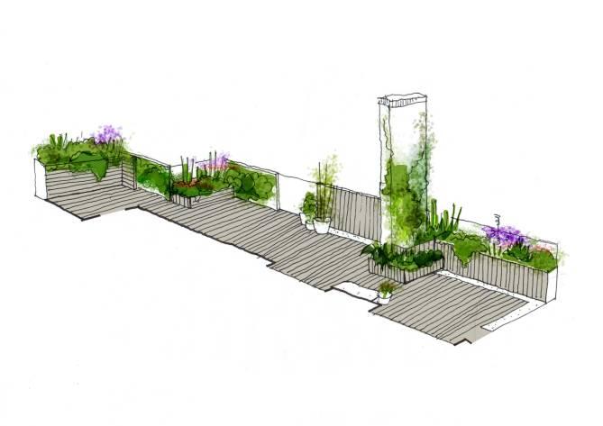vista terraza diseño