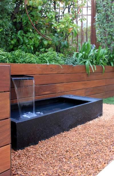 Fuentes para el jard n la habitaci n verde for Cascadas modernas para jardin