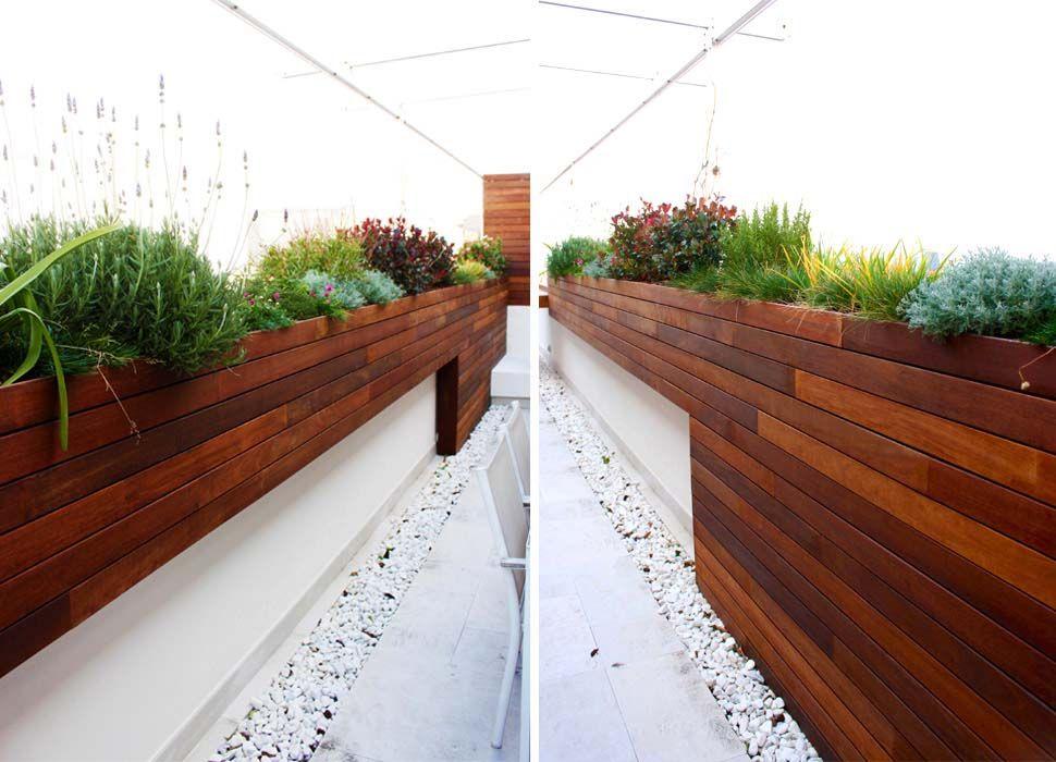 terraza moderna jardín