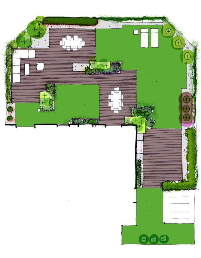 Plano propuesta de jardín