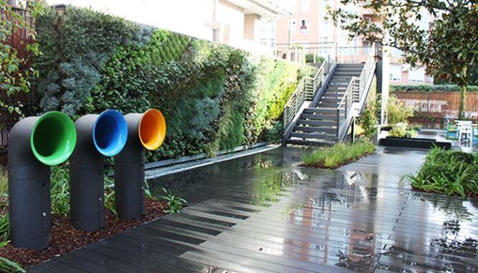 Foto Jardín vertical en oficina en Madrid