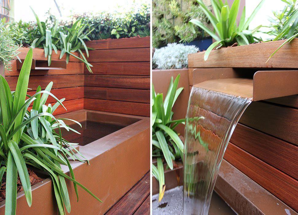 Fuente para jardín de cascada