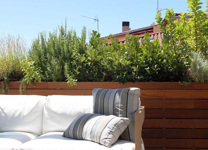 terraza con pérgola bioclimática en Madrid
