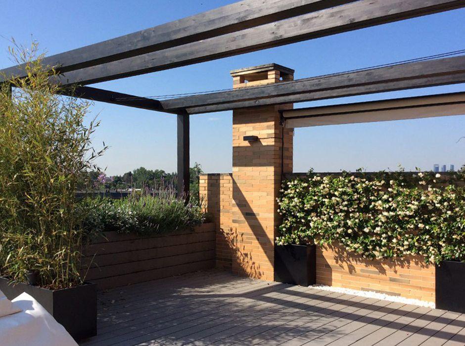 Jardín para terraza en La Moraleja
