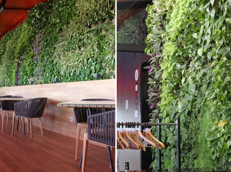 Jardín vertical para hotel en Madrid