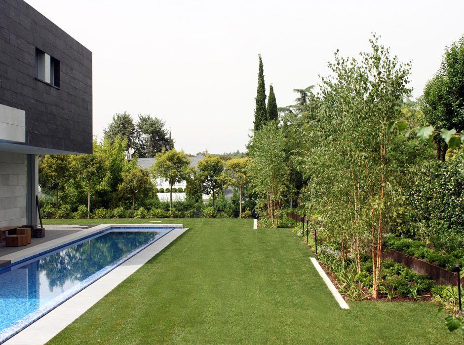 Jardín en la Moraleja en Madrid