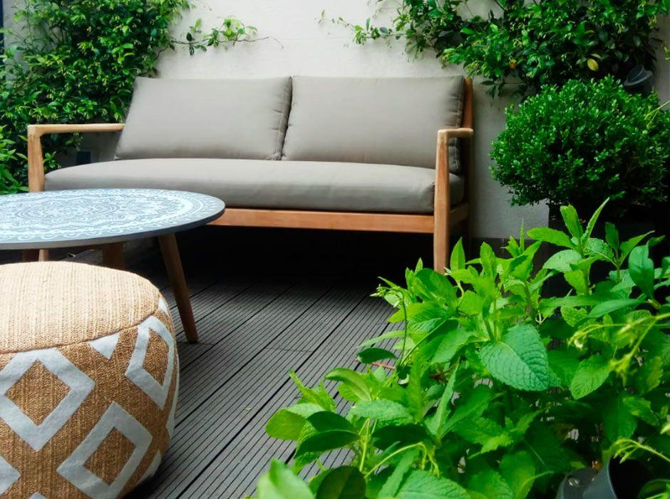 Jardín en terraza en las Tablas Madrid