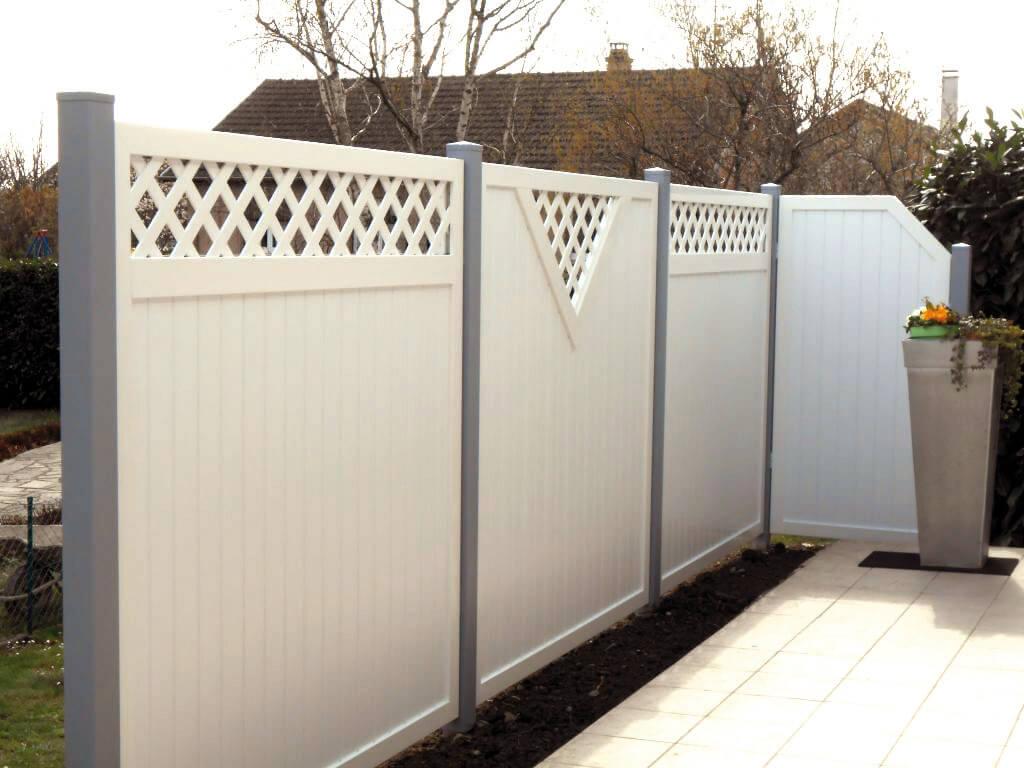 panneaux pare vue aluminium bois