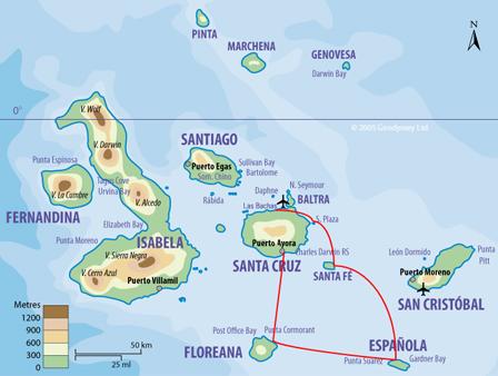 Itinéraire croisière Galapagos