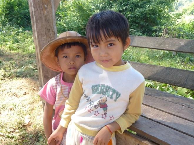 Enfants Shan entre Hsipaw et Pankam