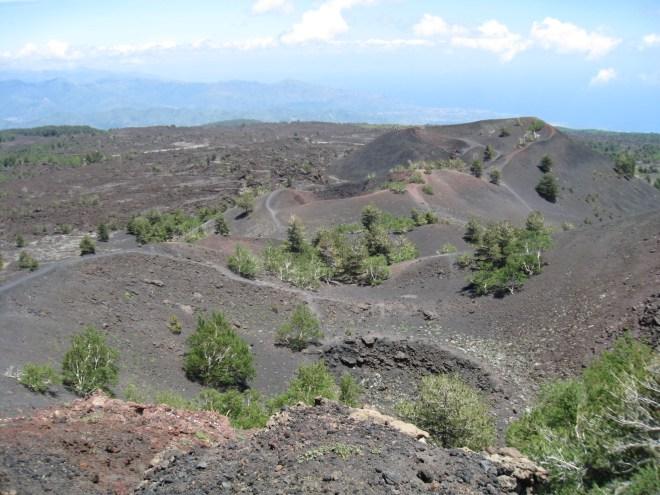 Cratères de Monti Sartorius, Etna - Sicile