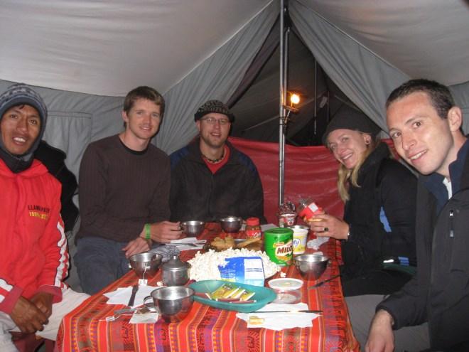 Happy Hour - Camino Inca - Pérou