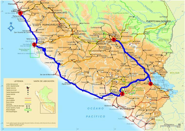 Itinéraire Pérou