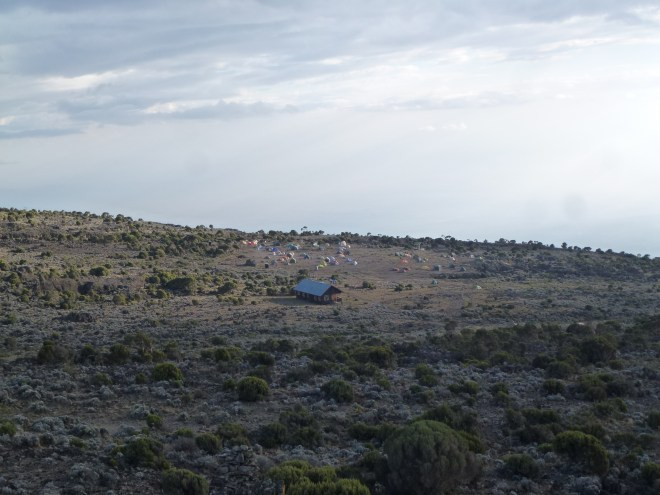 Vue sur Shira Camp depuis Shira 1