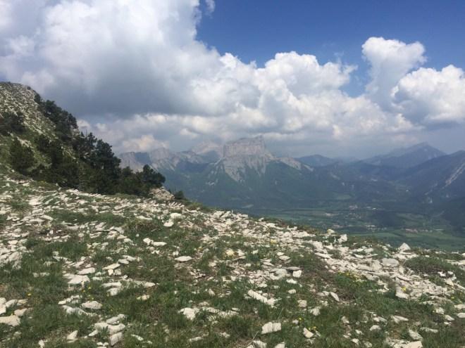 Mont Aiguille depuis la crête de Grande Leirie