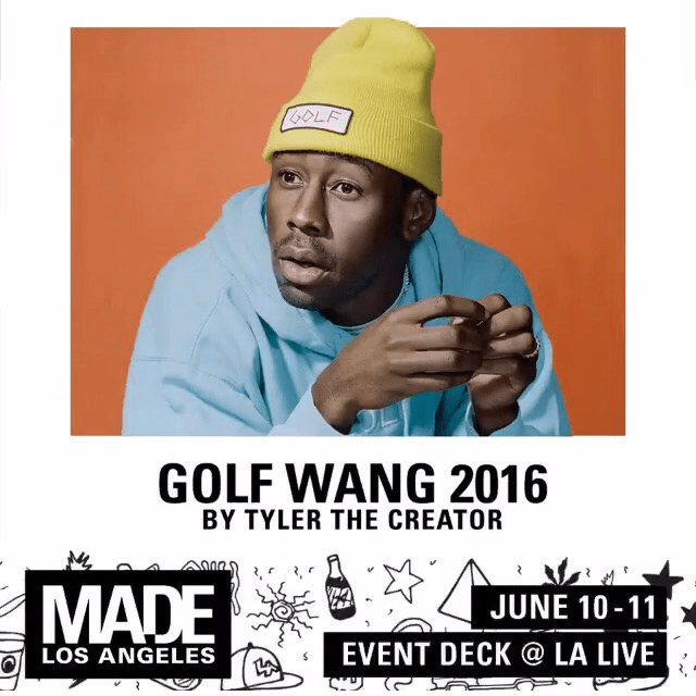 GOLF WANG 2016 BY TYLER THE CREATOR LA LIVE EVENT DECK