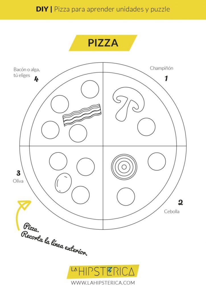 DIY Pizza para aprender unidades | Freebie imprimible | La Hipstérica