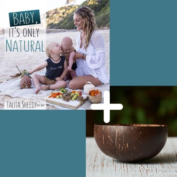 Baby It's Only Natural Book + Coconut Bowl Bundle