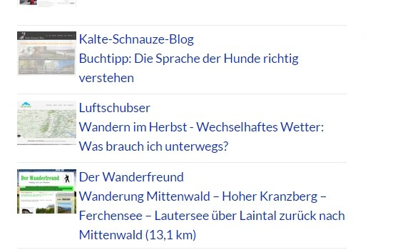 Neu: der Blog-Ticker!