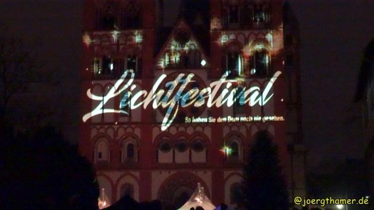 Lichtfestival Limbug - der Limburger Dom kunstvoll beleuchtet