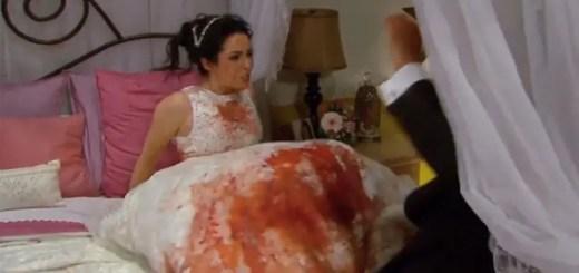 la malquerida acacia vestido de novia sangre