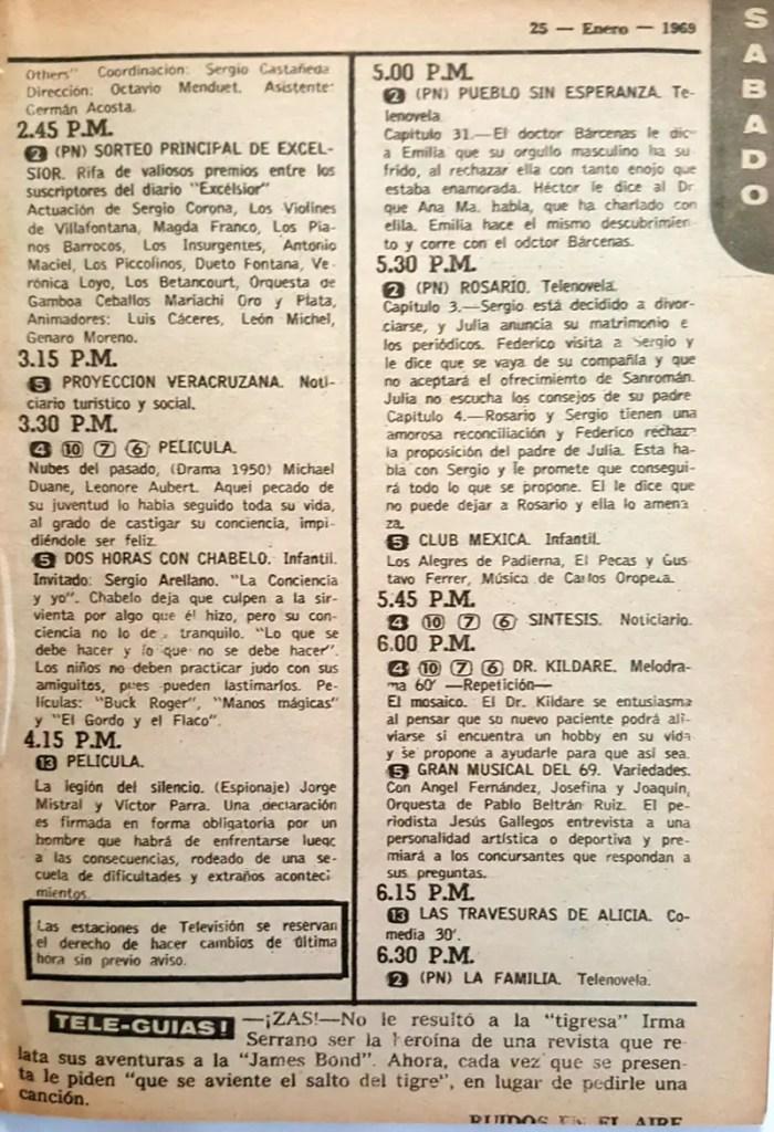 Revista Tele Guía 23 de enero de 1969 - Parte 3/8