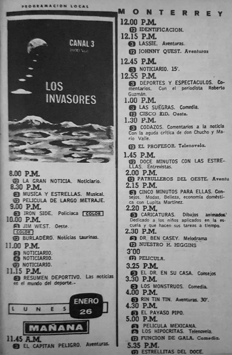 42-revista teleguia enero 1970 los invasores codazos monterrey