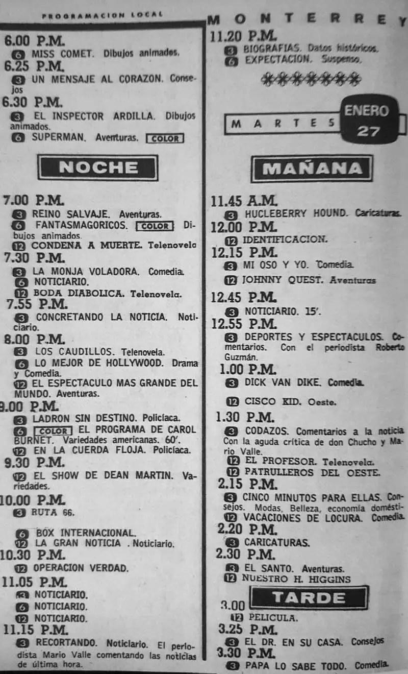 43-revista teleguia enero 1970 ladron sin destino los caudillos el profesor