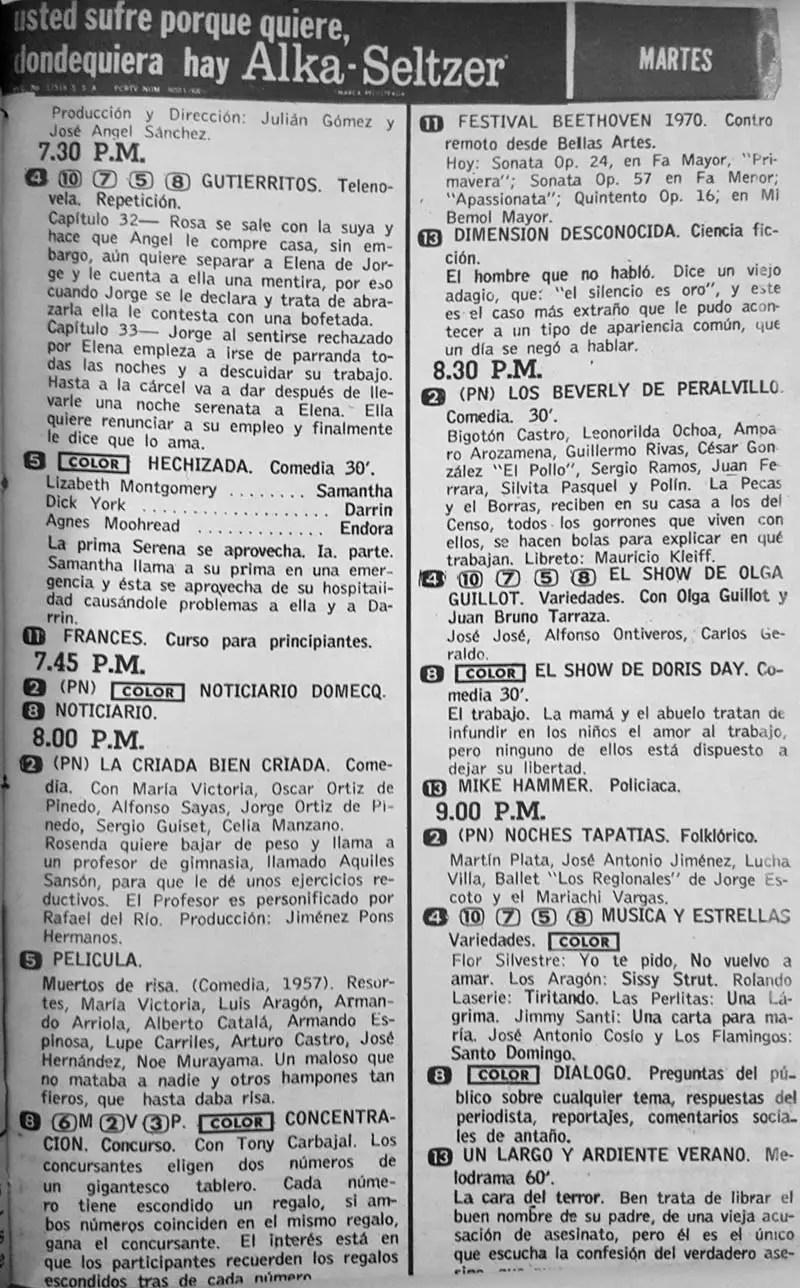 47-revista teleguia enero 1970  criada bien criada noches tapatias dimension desconocida