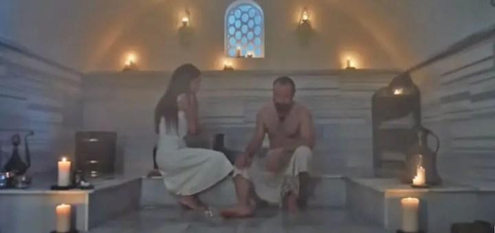 mi patria eres tu Cevdet y Azize en hammam Halit Ergenc Bergüzar Korel