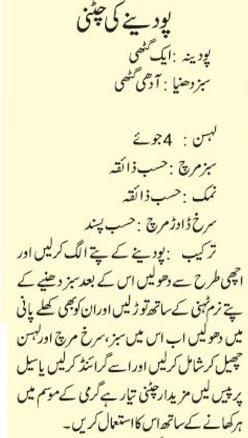 How To Prepare Pudine Ki Chatni Recipe In Urdu