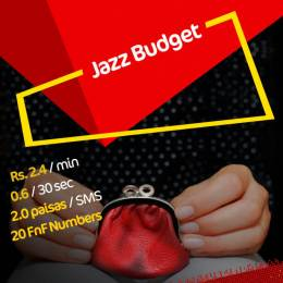 Jazz Budget Package Activation Code *301# 2 Paisas SMS 2.4 Minute Call