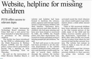 Helping Missing Children Website Missing Punjab Gov Pk